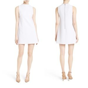Alice + Olivia White Coley a-line shift dress | 0